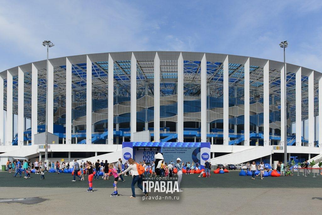 10 ярких кадров с открытия спортзоны у стадиона «Нижний Новгород»