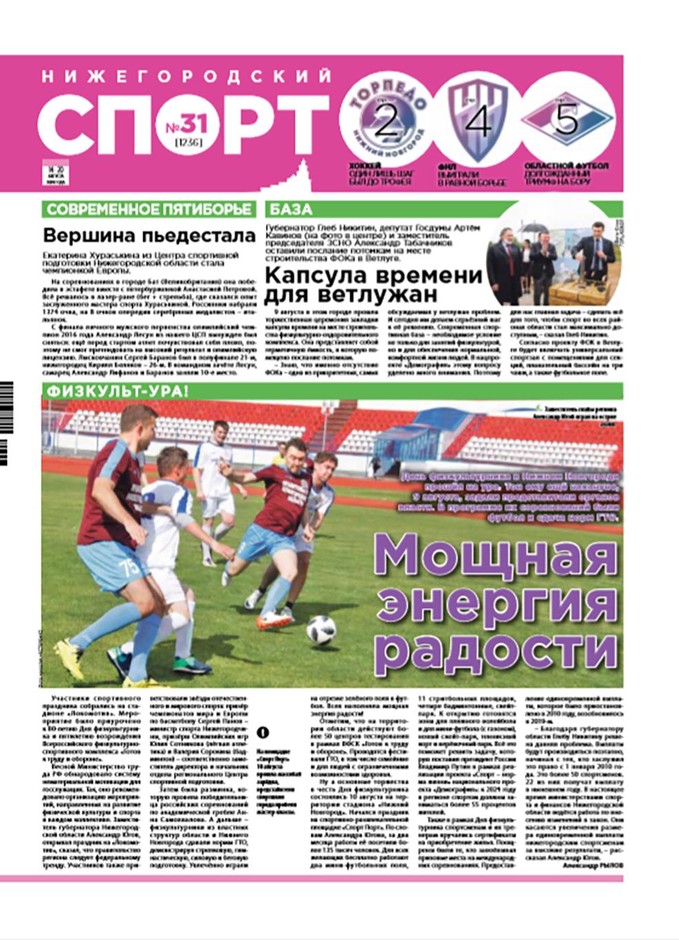 Нижегородский  спорт