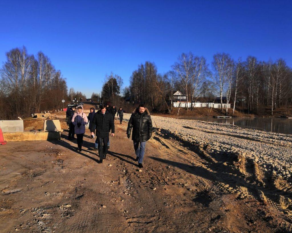 Временный проезд построен вШахунском районе рядом сразмытым участком дороги удеревни Большие Кулики