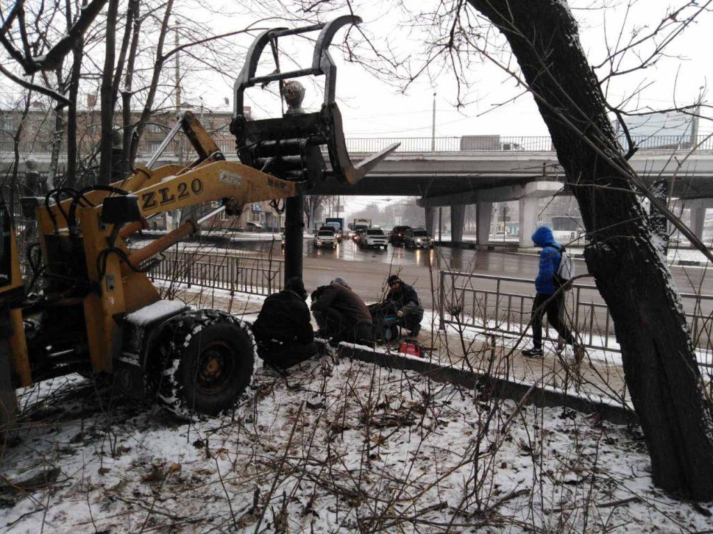 Ограду в «Дубках» восстановят до конца дня 3 декабря