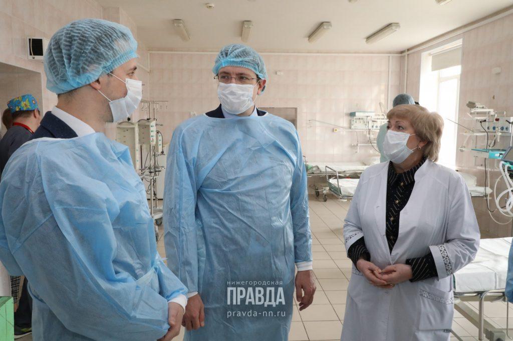 Губернатор проверил готовность больницы №5 Нижнего Новгорода кприему пациентов скоронавирусом